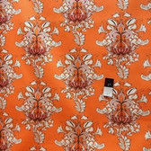 Tina Givens SATG003 Lilliput Fields Vintage Orange Sateen HOME DECOR Fabric By Yard