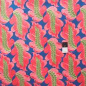 Victoria and Albert PWVA014 Garthwaite Leaf Teal Fabric By Yard