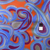 Brandon Mably PWBM022 Dancing Paisley Blue Quilt Cotton Fabric By The Yard