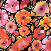Dena Designs PWDF135 The Painted Garden Azalea Black Fabric By The Yard