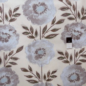 Dena Designs PWDF137 The Painted Garden Rose Grey Fabric By The Yard