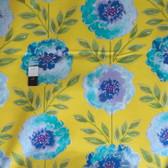 Dena Designs PWDF137 The Painted Garden Rose Yellow Fabric 1 Yard