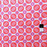 Erin McMorris PWEM040 LaDeeDa Flora Dots Coral Fabric By The Yard