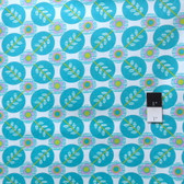 Erin McMorris PWEM040 LaDeeDa Flora Dots Aqua Fabric By The Yard