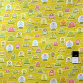 Erin McMorris PWEM039 LaDeeDa Bubbles Goldenrod Fabric By The Yard