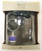 Ascot Tumbler & Holder Bath Accessories Chrome w/ Blue Glass