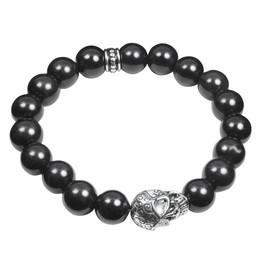 Skull and Stones( black ) Stretch Bracelet