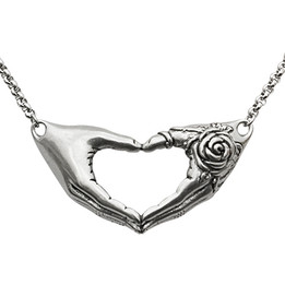Friendship Necklace with a rose tattoo Necklace
