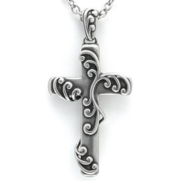 Ivy - Cross with Vines Necklace