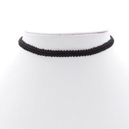 black leaf wave choker necklace