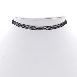 black wave pattern choker necklace