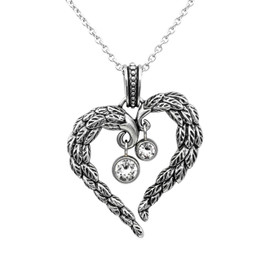 Heart Angel Wings Necklace - Glimmering United Wings