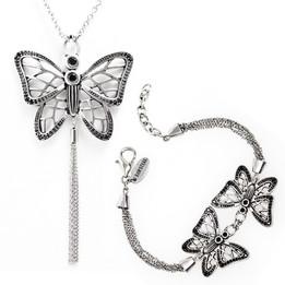 Gossamer Wings Butterfly Necklace & Bracelet Set