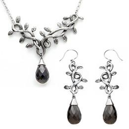 Grape Vine Necklace & Earrings Set