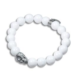 Skull and Stones( white ) Stretch Bracelet