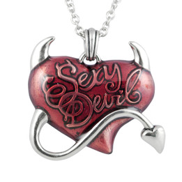 Sexy Devil Red Heart Necklace