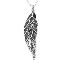 Sparkling Angel Wing Necklace