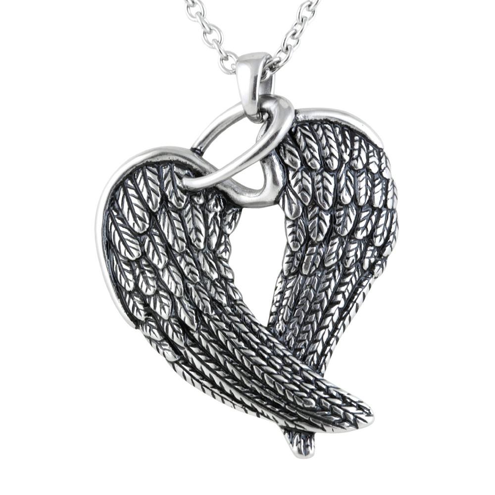 Wings pendant necklace steel wings halo controse image 1 aloadofball Choice Image
