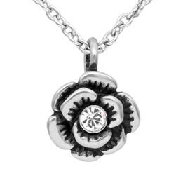 Crystal Bloom Flower Petite Necklace - adorned with Swarovski Crystal