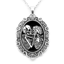 The Eternal Lovers Skull Cameo Necklace