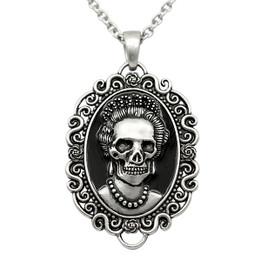 Skull Queen Cameo Necklace