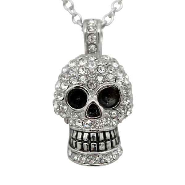 Skull necklace with swarovski crystals controse skull necklace with swarovski crystals image 1 mozeypictures Images