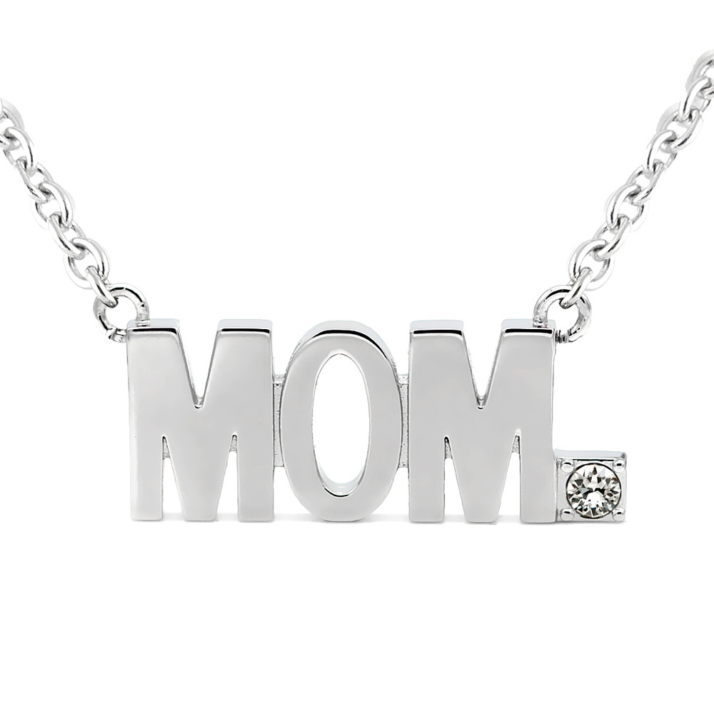 Mom pendant block letter necklace with swarovski crystal controse mom pendant block letter necklace with swarovski crystal image 1 aloadofball Gallery