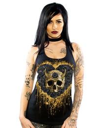 Gold Diablo Womens Tank Top
