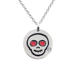 Love Skull Emoji Necklace With Swarovski Crystal