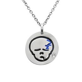 Sleepy Skull Emoji Necklace With Swarovski Crystal