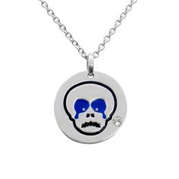 Sad Skull Emoji Necklace With Swarovski Crystal