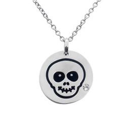 Happy Skull Emoji Necklace With Swarovski Crystal