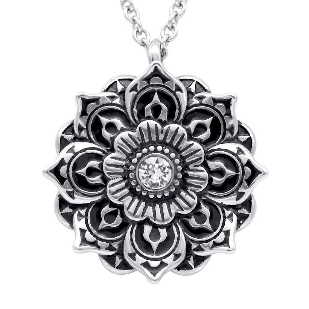 product image of hands idle necklace mandala