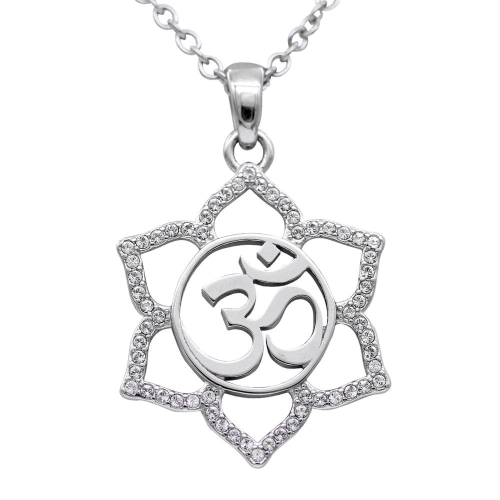 Sacred Om Lotus Flower Necklace Controse