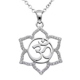 Sacred Om Lotus Flower Necklace