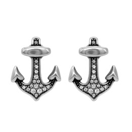 Brilliant Anchor Earrings