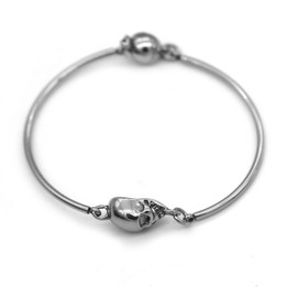 Skulls Bangle with Magnetic Clasp