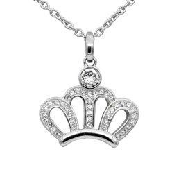 Sparkling Crown Necklace