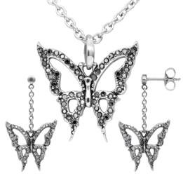 Blingin' Butterfly Necklace & Earrings Set
