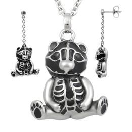 Teddy Sitting Pretty Necklace & Earrings Set