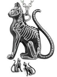 Cat Necklace & Earrings Set Feral Bones