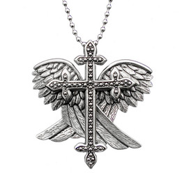 Angel Wings and Cross Necklace