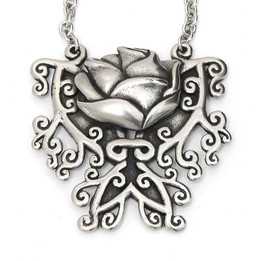 Every Rose Has Its Thorn - Butterfly Rose Necklace
