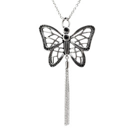 Butterfly Necklace Gossamer Wings with Cubic Zirconia