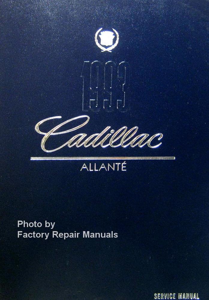 1993 cadillac allante factory service manual original shop repair rh factoryrepairmanuals com Truck Manual 12H802 Manual