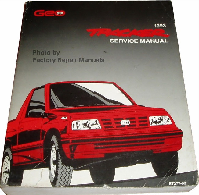 1993 geo tracker factory service manual original chevy shop repair rh factoryrepairmanuals com 1993 geo tracker manual transmission 1993 geo tracker manual window regulator