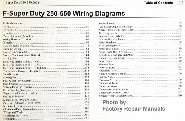 2008 ford f250 f350 f450 f550 super duty truck electrical wiring rh factoryrepairmanuals com