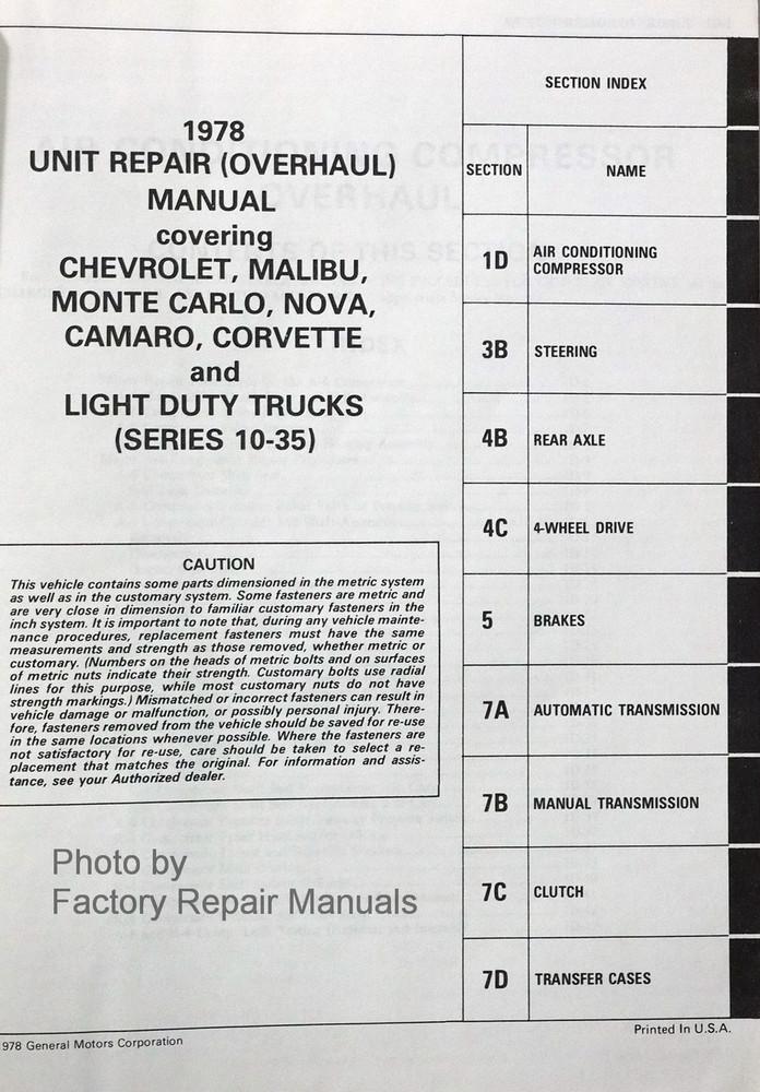 1977 Chevy Rv Repair manual Manual manf or Haynes for a 1977 GMC