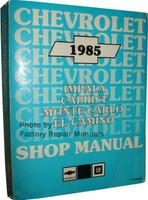 1985 Chevrolet Impala Caprice Malibu Monte Carlo El Camino Shop Manual