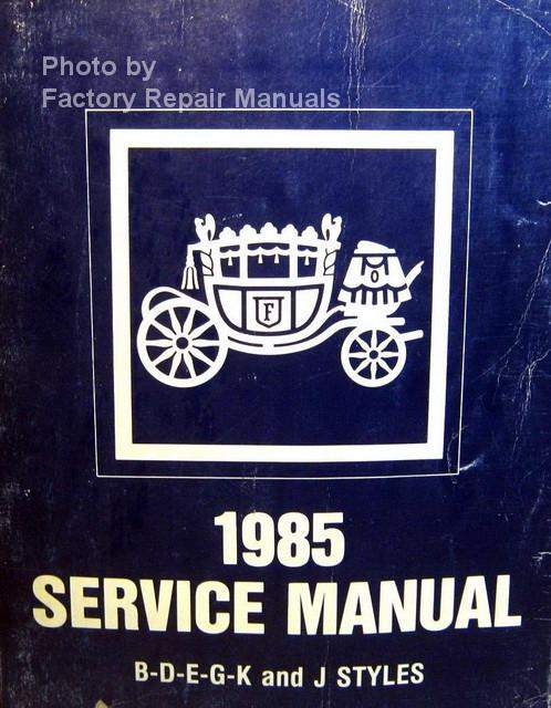 1985 gm cadillac oldsmobile pontiac body service manual factory rh factoryrepairmanuals com Nissan Factory Service Manual Auto Repair Manual